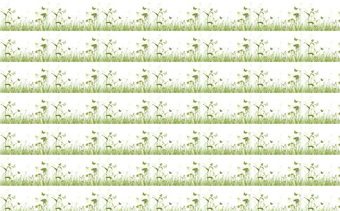 Vinylová Tapeta Green Floral Background - Květiny