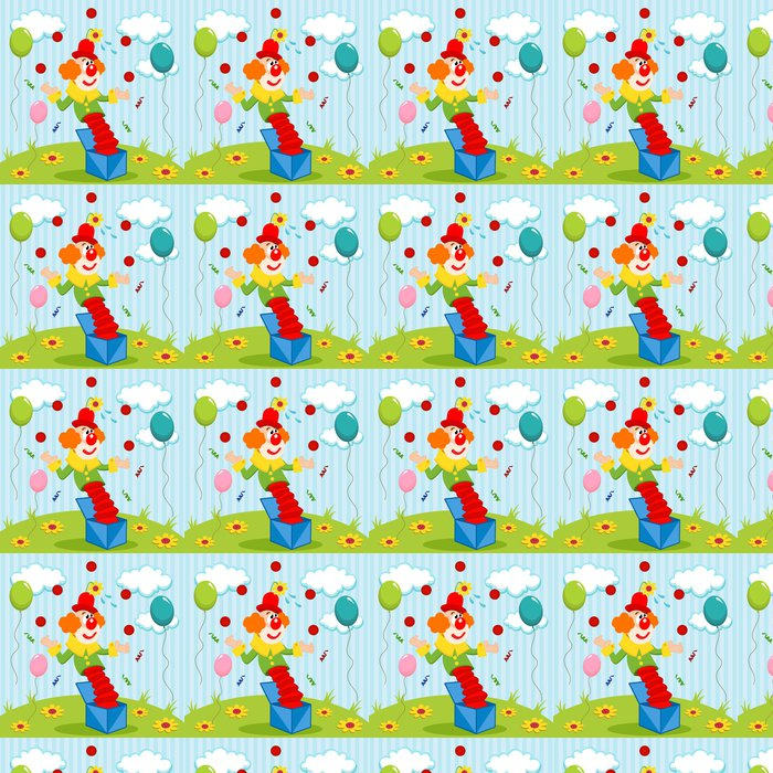 Vinylová Tapeta Klaun žongluje koule - vektorové ilustrace - Etika
