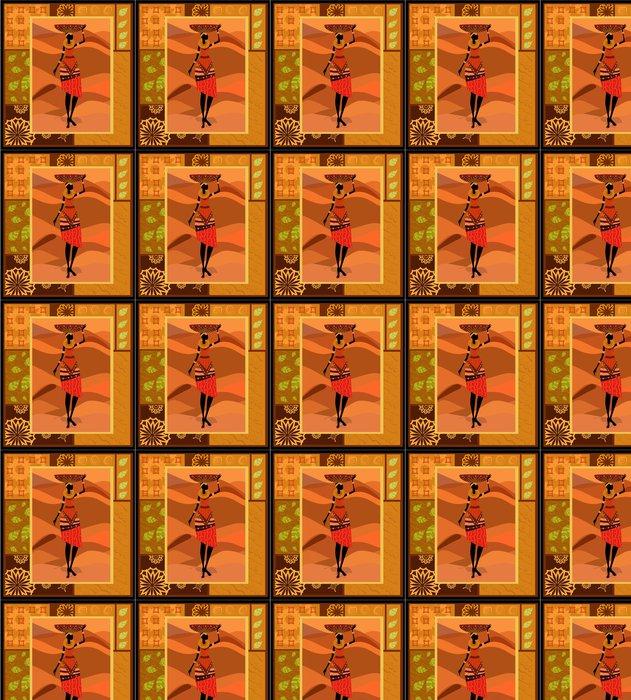 Vinylová Tapeta Africká žena ornament - Umění a tvorba