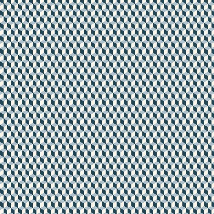 Vinylová Tapeta Klasické kostky 3d podtisk. Retro vektoru vzor. - 3D