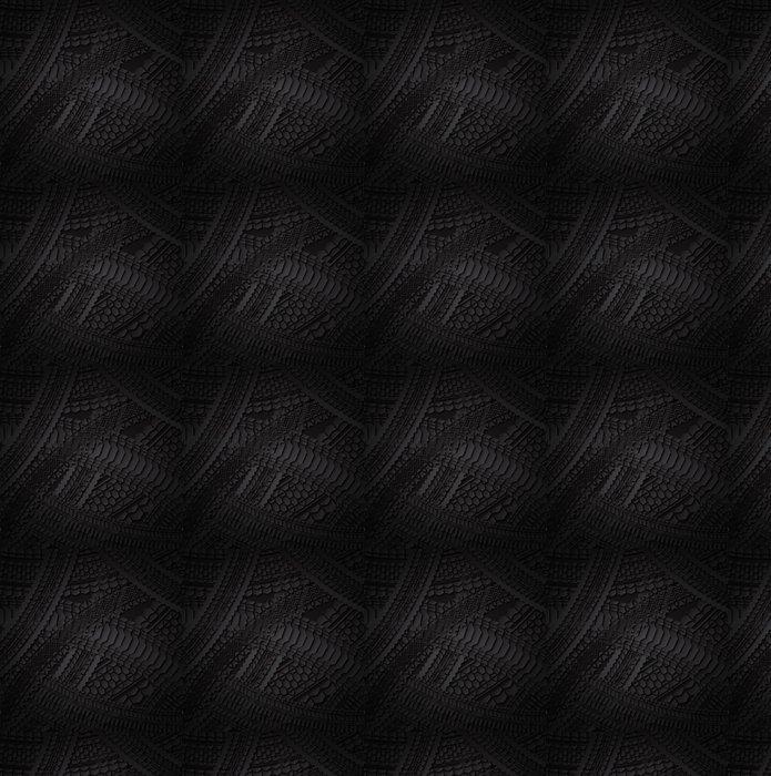 Vinylová Tapeta Tmavé pneumatiky vzor - Pozadí