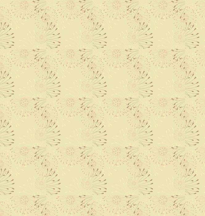 Vinylová Tapeta Květinové pozadí - Roční období
