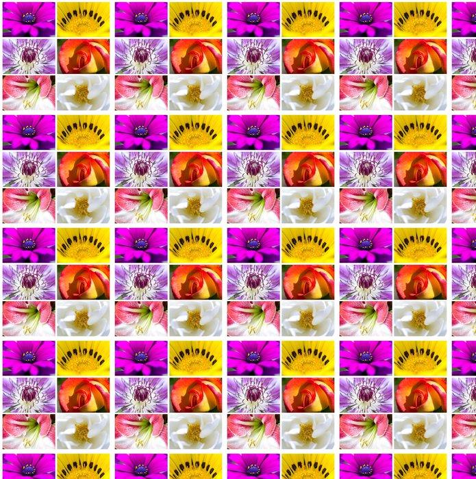Vinylová Tapeta Koláž - Květiny - Květiny