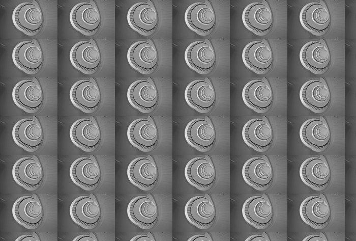 Vinylová Tapeta Kolo schodiště pohled ze dna v černé a bílé - Stavby a architektura