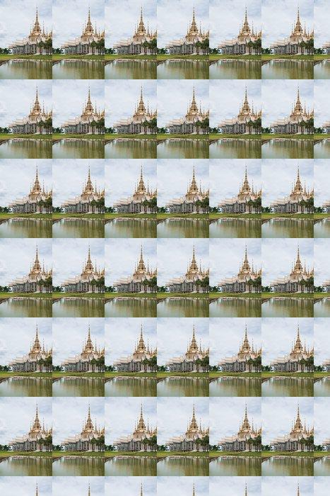 Vinylová Tapeta Krásná budova s náboženstvím, Wat Luang Phor prst, Nakhonratcha - Náboženství