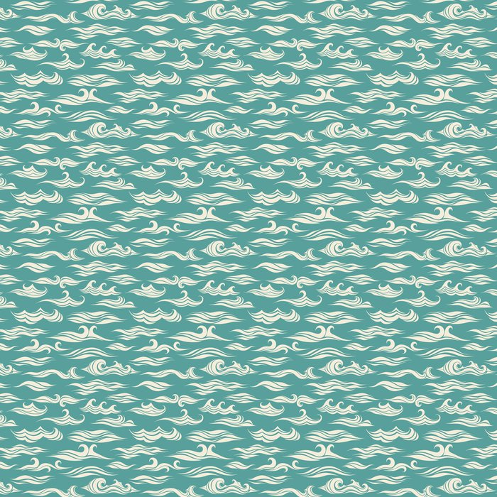 Vinylová Tapeta Bezešvé vzor vlny z prvek designu - Pozadí