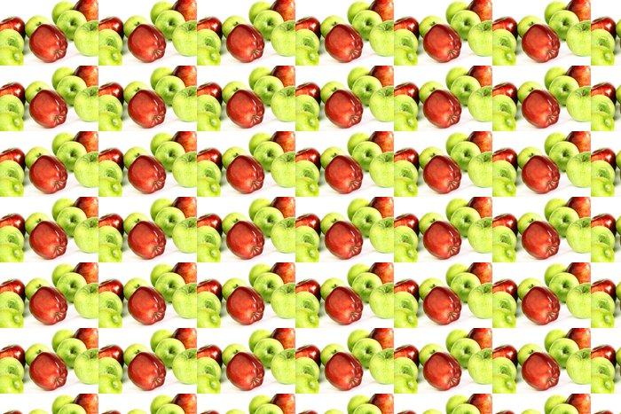 Vinylová Tapeta Červená a zelená jablka - Ovoce