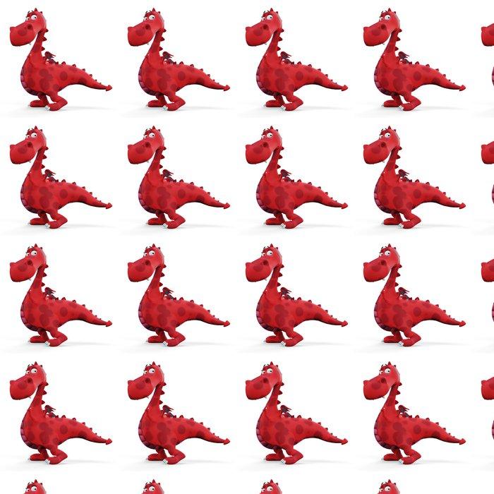 Vinylová Tapeta Red hot dino dragon dítě - Nálepka na stěny