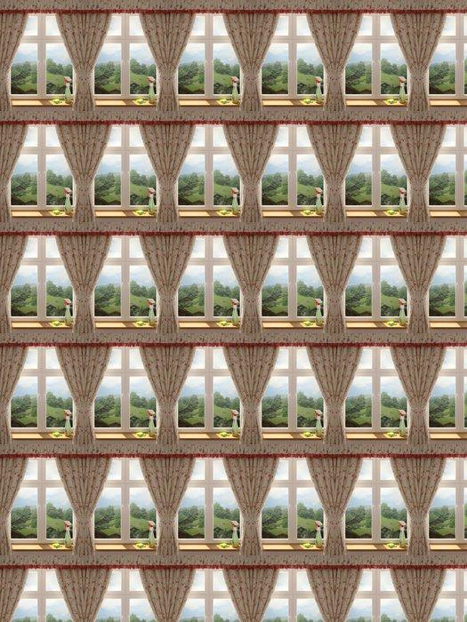 Vinylová Tapeta Mytí oken - Nálepka na stěny