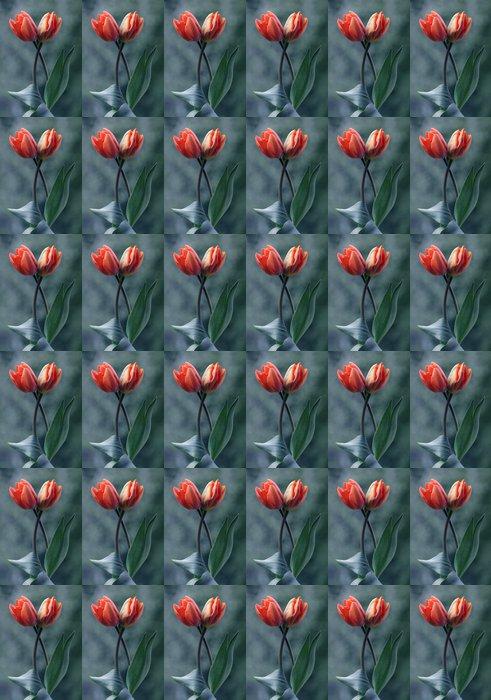 Vinylová Tapeta Tulipany - Květiny