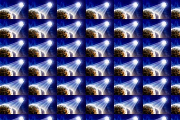 Vinylová Tapeta Planety pod hodinky - Meziplanetární prostor