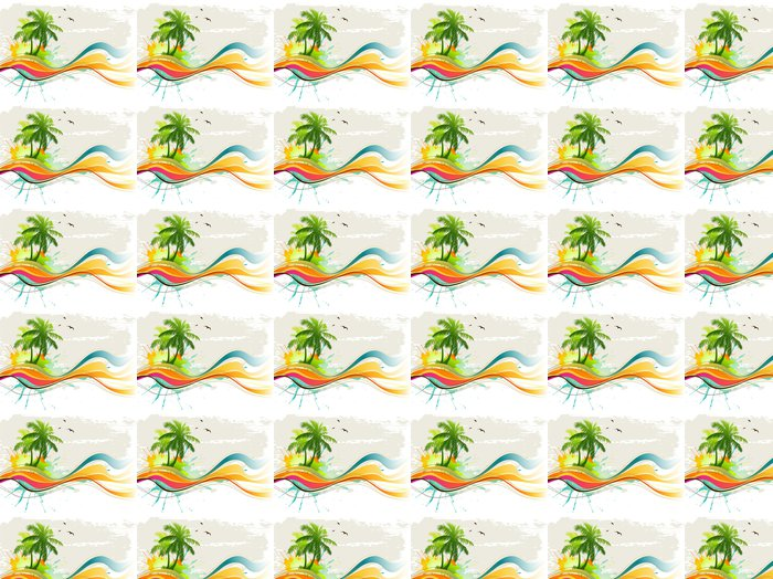Tropical background Vinyl Wallpaper - Trees and leaves