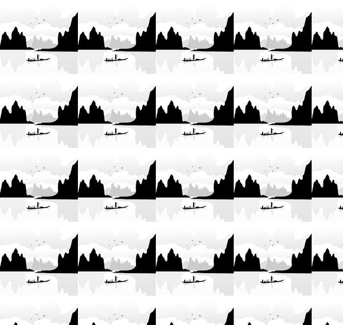 Vinylová Tapeta Krajina v Číně-Vector - Hory