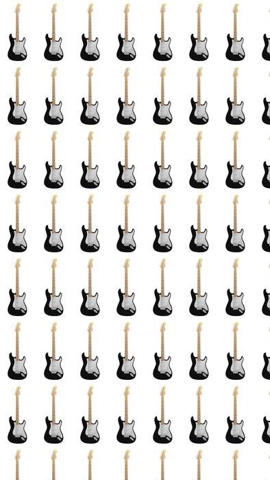 Vinylová Tapeta Black elektrická kytara - Hudba