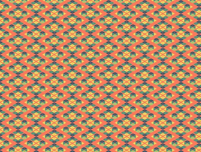 Vinylová Tapeta Geometrický zelená žlutá modrá oranžová barva podtisk - Pozadí