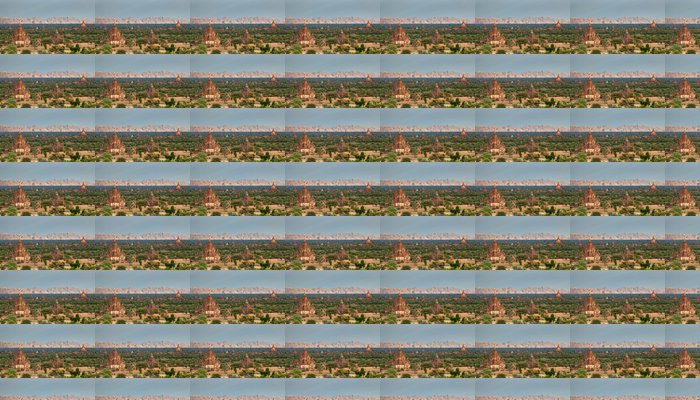 Vinylová Tapeta Chrámy Bagan při západu slunce, Bagan, Myanmar - Asie