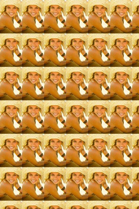 Vinylová Tapeta Ohromující blond bikini model se usmívá během klobouku zlatého světla - Prázdniny