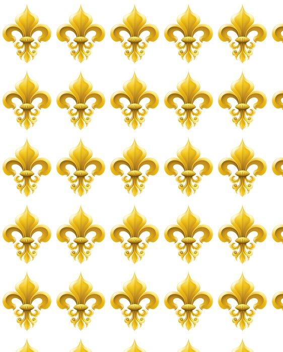 Vinylová Tapeta Golden Fleur-de-lis ilustrace - Květiny