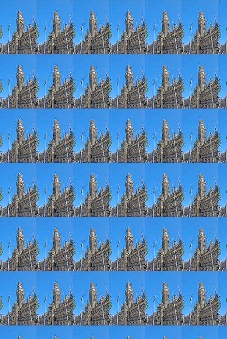Vinylová Tapeta Anglický viktoriánské Town Hall a Clocktower pod modrou oblohou - Úspěch