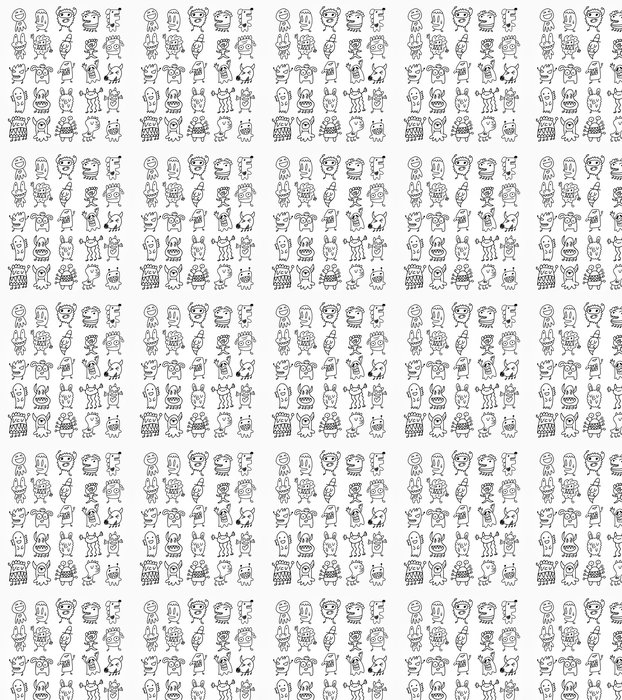 Vinylová Tapeta Ruční draw ghost element - Hry