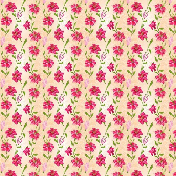 Vinylová Tapeta Květiny vzor na bezešvé pozadí - Struktury