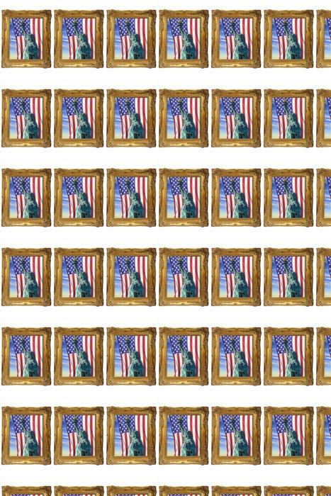 Papier peint à motifs vinyle La stature de la liberté - Monuments