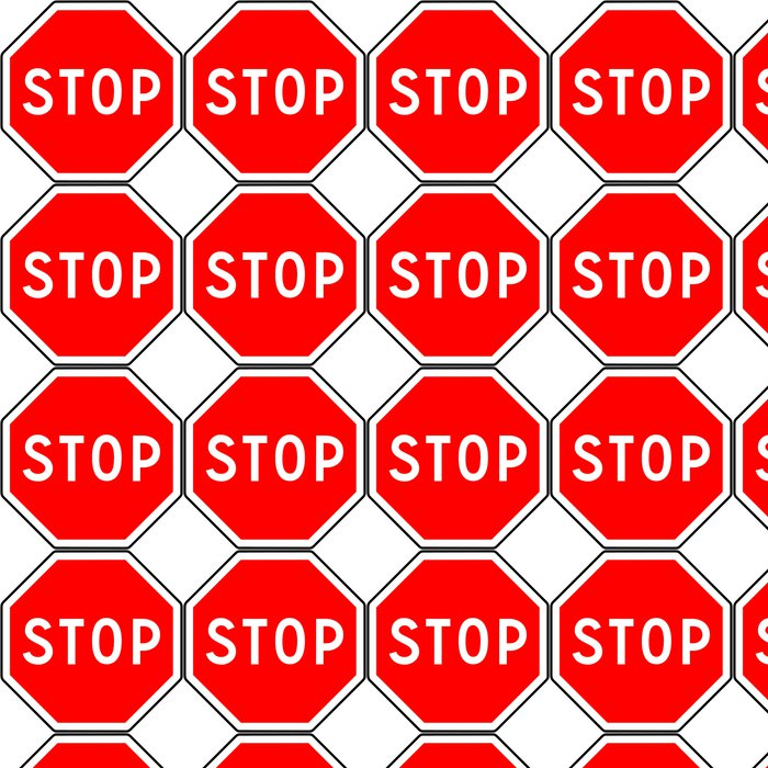 Vinylová Tapeta Stop sign - Značky a symboly