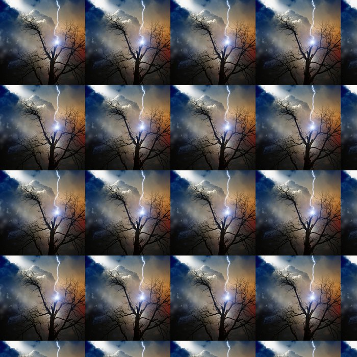 Vinylová Tapeta Strom zasáhl blesk - Přírodní katastrofy