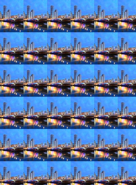 Vinylová Tapeta Boston Financial District a Seaport Boulevard Bridge - Amerika