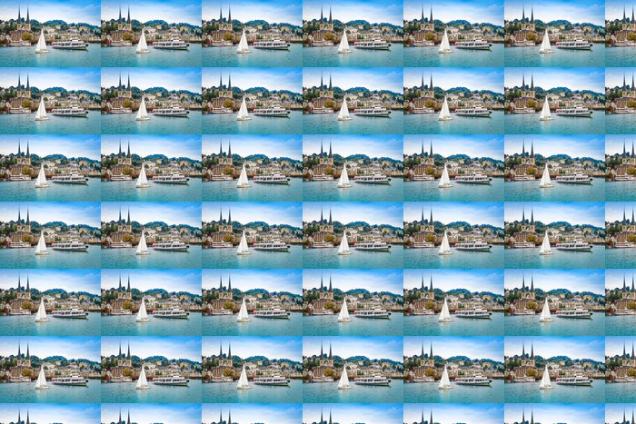 Vinylová Tapeta Panoráma města Lucerne, Švýcarsko - Evropa