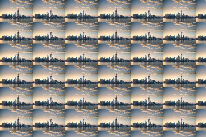 Vinylová Tapeta Shanghai panorama v krásné ráno - Město