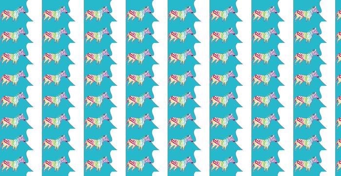 Vinylová Tapeta Bright ilustrace s zebra - Savci