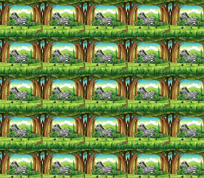 Vinylová Tapeta Zebra v džungli - Imaginární zvířata