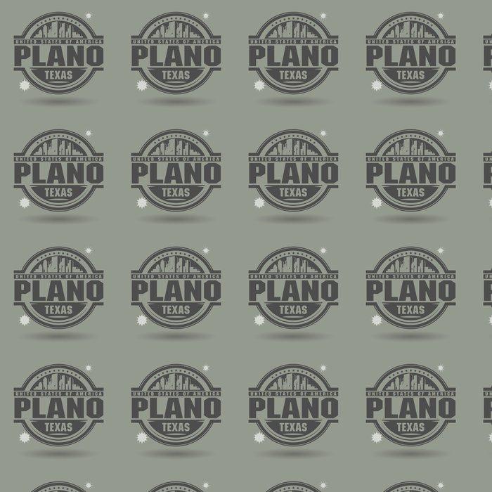 Vinylová Tapeta Razítko nebo štítek s textem Plano v Texasu uvnitř - Amerika