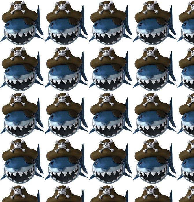 Vinylová Tapeta Requin pirát - Nálepka na stěny