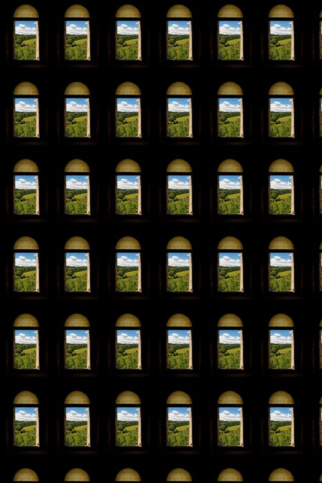 Vinylová Tapeta Fenster mit Ausblick, natur, zelená, venkov - Svoboda