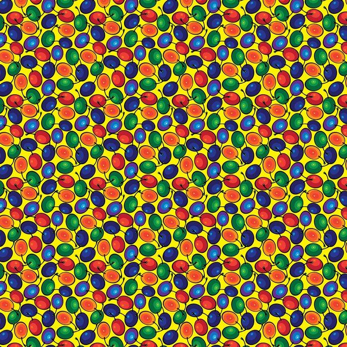 Vinylová Tapeta Švestka vícebarevný bezešvé vzor - Pozadí