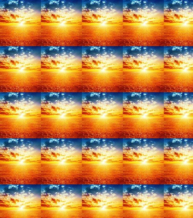 Vinylová Tapeta Dobrý oranžový západ slunce nad mořem - Nebe