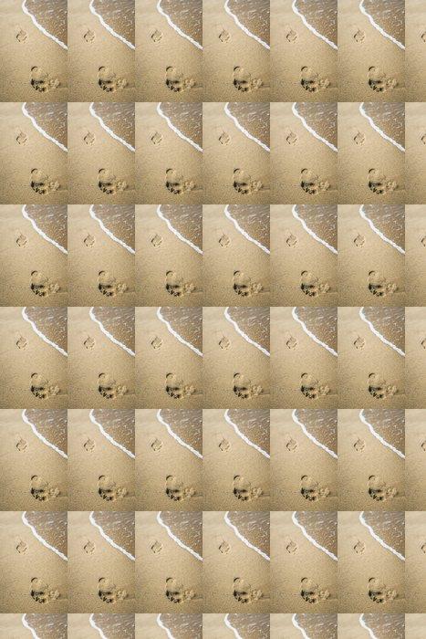 Vinylová Tapeta Stopy v písku - Pozadí