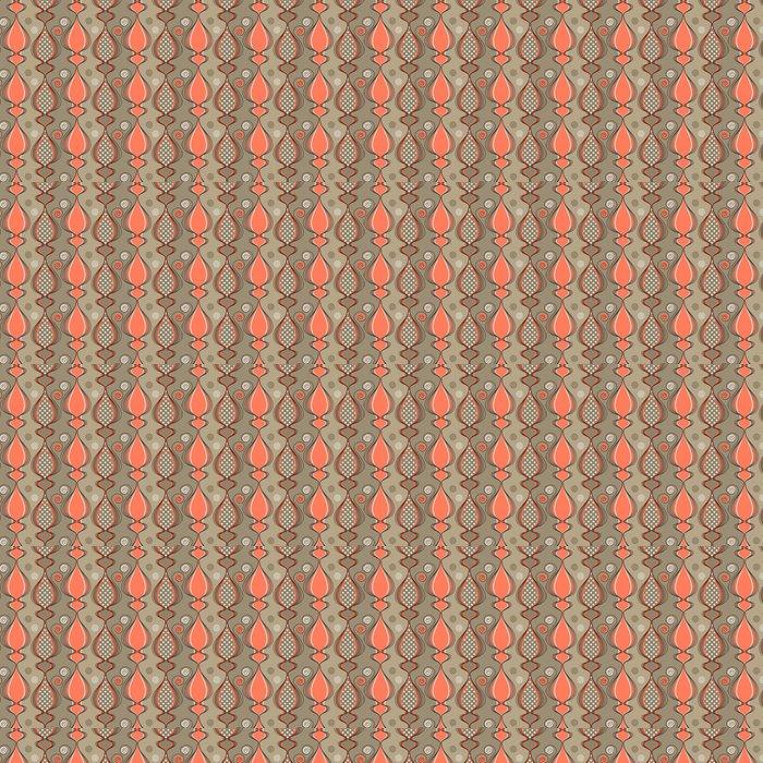 Vinylová Tapeta Bezešvé vzor se stylizovanými kočičí siluety - Pozadí