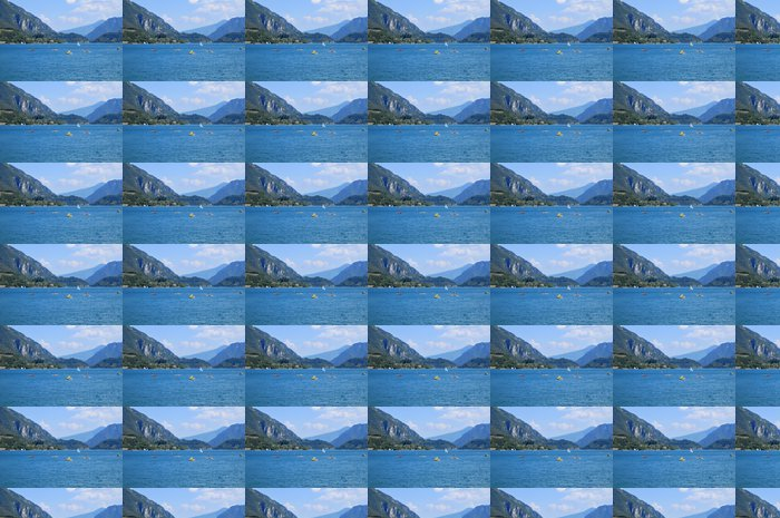 Vinylová Tapeta Jezero Ledro, Itálie - Prázdniny