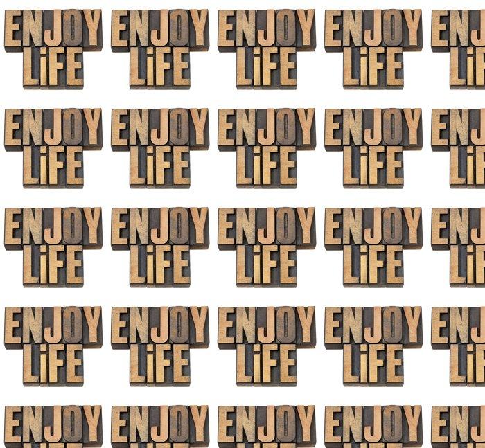Vinylová Tapeta Užívat si života v typu dřeva - Značky a symboly