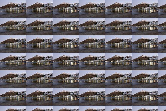 Vinylová Tapeta Pohled v noci hradu a obce Astypalea Island - Řecko - Evropa