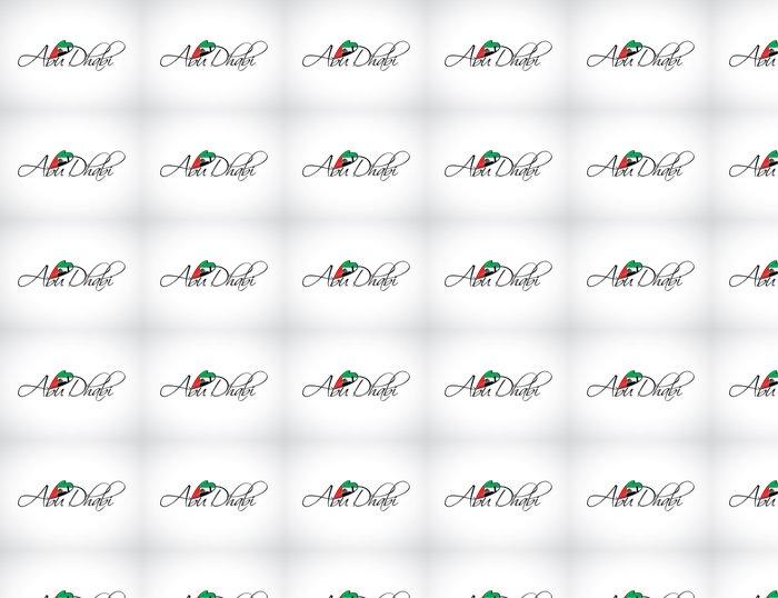 Vinylová Tapeta Abu Dhabi nápisy - Střední Východ