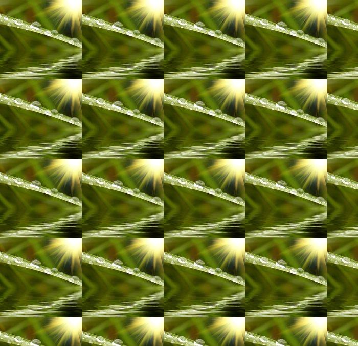 Vinylová Tapeta Zelená tráva s kapkami deště na pozadí - Ekologie