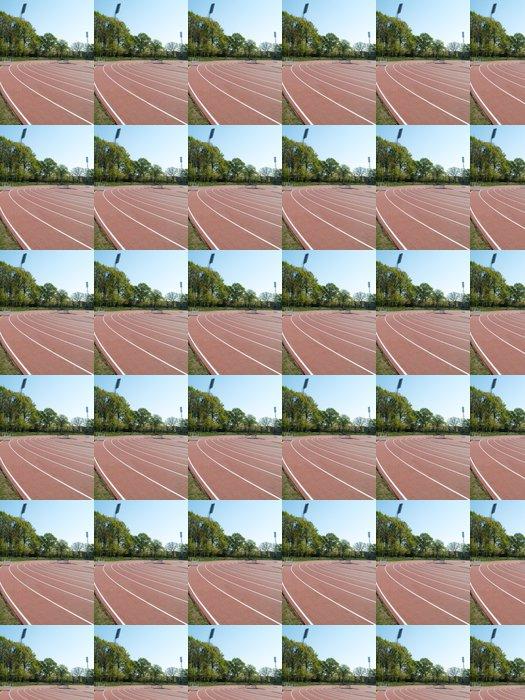 Vinylová Tapeta V létě atletický stadion s run závodních tratí a sophit stožárů - Outdoorové sporty
