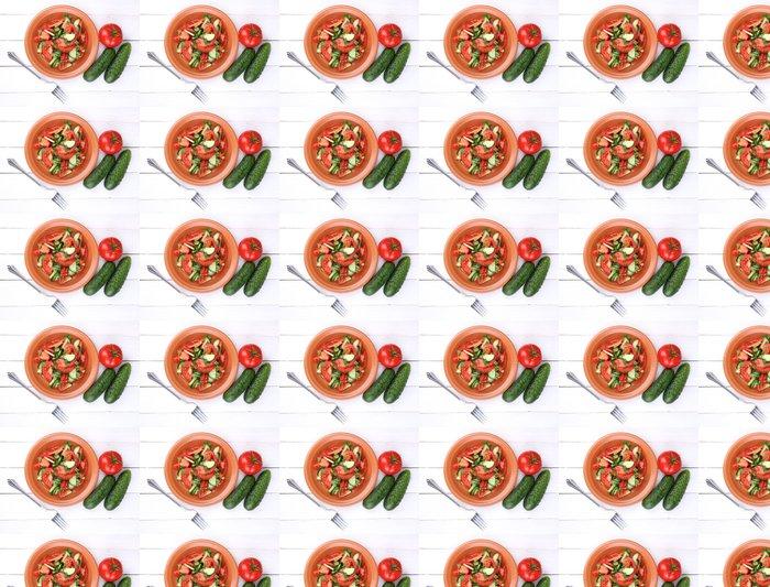 Vinylová Tapeta Čerstvý salát s rajčaty a okurkami - Témata