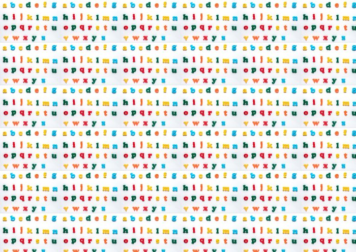 Papier Peint à Motifs Vinyle English Toy alphabet - Autres sentiments