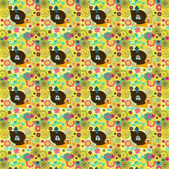 Vinylová Tapeta Hlemýžď v květech - Ostatní Ostatní