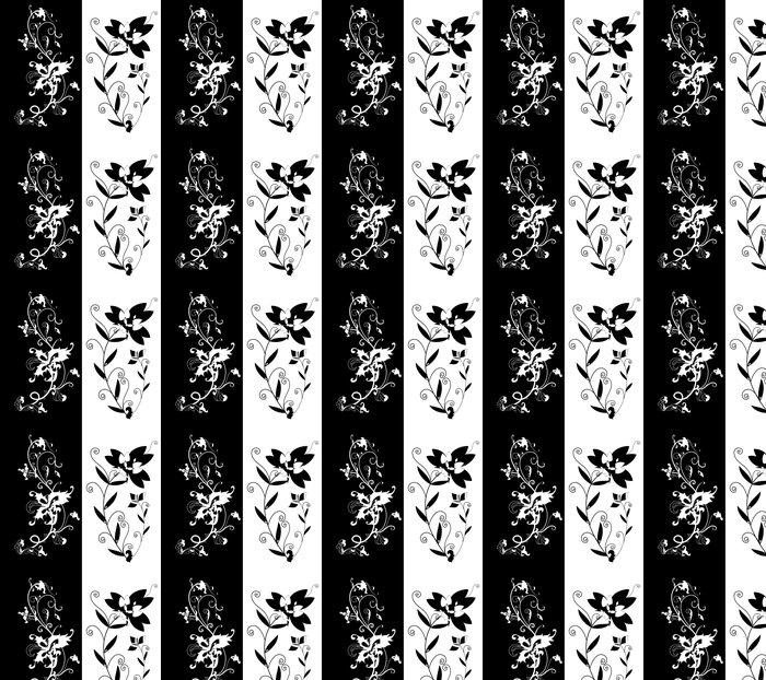 Vinylová Tapeta Květinové siluety - Umění a tvorba